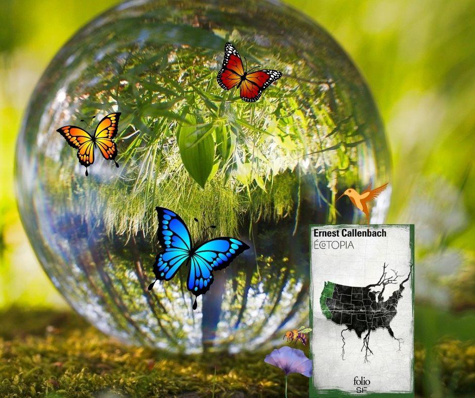 Photomontage pour Ecotopia de Ernest Callenbach