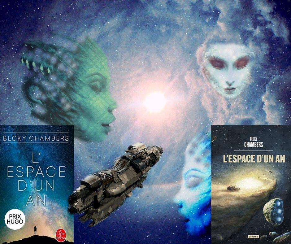 Photomontage pour roman «L'espace d'un an» de Becky Chambers - Scifilisons