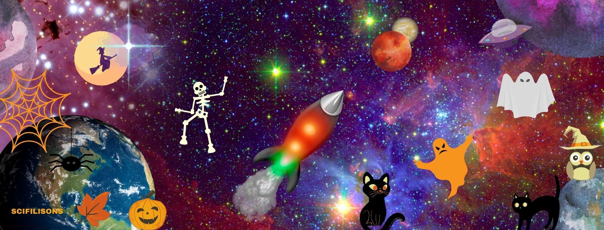 bandeau Halloween Scifilisons 2021 Canva