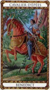 Benedict Prince d'Ambre Tarot illustré par Florence Magnin Edition Descartes 1994